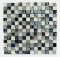 Image for Mosaics Shades of Grey Hammered Glass Shades Of Grey Mix Mosaic 305mm x 305mm Wall Tile 10 Per Pack - BCT38351