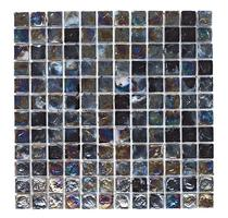 Image for Mosaics Shades of Grey Black Hammered Glass Mosaic 305mm x 305mm Wall Tile 10 Per Pack - BCT38375