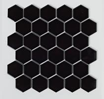 Image for Mosaics Shades of Grey Hexagon Porcelain Black Mosaic 300mm x 300mm Multi-Use Tile 10 Per Pack - BCT38313