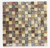 Image for Mosaics Naturals Hammered Glass Natural Mosaic 305mm x 305mm Wall Tile 10 Per Pack - BCT38474