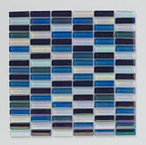 Image for Mosaics Bright and Beautiful Reactive Blue Glass Mosaic 300mm x 300mm Wall Tile 10 Per Pack - BCT38429