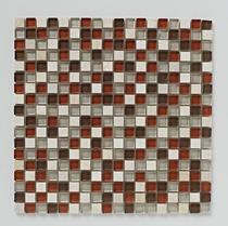 Image for Mosaics Bright and Beautiful Stone Autumn Mix Mosaic 300mm x 300mm Wall Tile 10 Per Pack - BCT38436