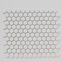 Image for Mosaics Luxe White Hexagon Stone Mosaic 305mm x 265mm Multi-Use Tile 10 Per Pack - BCT38559