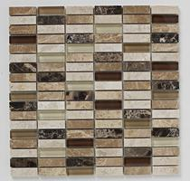 Image for Mosaics Naturals Emperador Glass Mix Polished Mosaic 305mm x 305mm Wall Tile 10 Per Pack - BCT38535