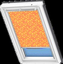 Image for Velux Electric Blackout Blind Vegetal Pattern - DML 4568