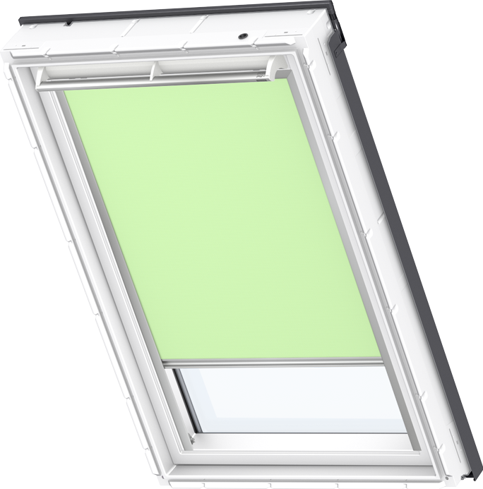 velux electric blackout blind pale green dml 4569 roof windows. Black Bedroom Furniture Sets. Home Design Ideas