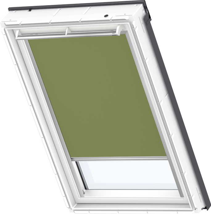Velux solar blackout blind olive green dsl 4567 velux for Velux solar powered blinds