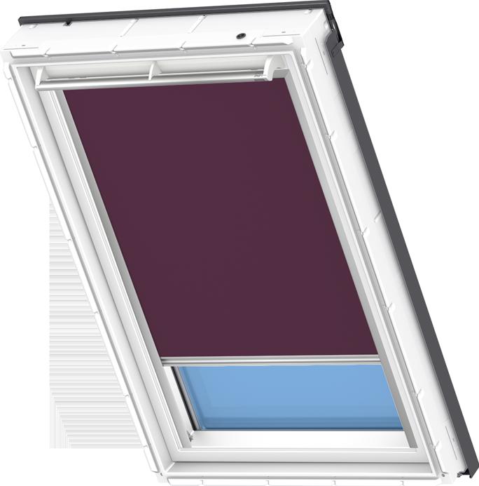 Velux solar blackout blind dark purple dsl 4561 velux for Velux solar blinds