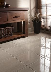 Image for Beige Travertine Effect Floor Tiles