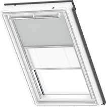 Image for Velux Duo Blind Light Grey / White - DFD 1705S