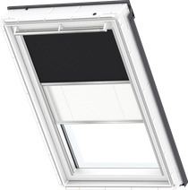Image for Velux Duo Blind Black / White - DFD 3009S