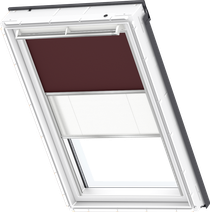 Image for Velux Duo Blind Dark Brown / White - DFD 4559S