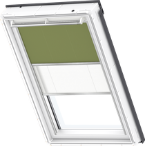 Image for Velux Duo Blind Olive Green / White - DFD 4567S