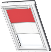 Image for Velux Duo Blind Flash Red / White - DFD 4572S