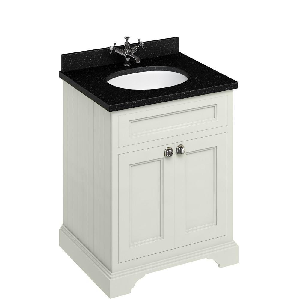 Burlington Floorstanding 650mm Bathroom Sand Black Vanity Unit Bathroom Furniture Bathroom