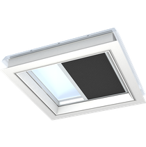 Image for VELUX Double Pleated Blind Black FSK Solar Flat Roof  - Various Sizes