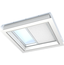 Image for VELUX Double Pleated Blind White FSK Solar Flat Roof  - Various Sizes