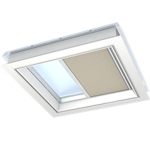 Image for VELUX Pleated Classic Sand Blind FMG Electric Flat Roof  - Various Sizes