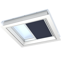 Image for VELUX Pleated Blue Blind FMG Electric Flat Roof  - Various Sizes