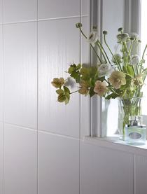 Image for Laura Ashley The White Collection White Linear 248mm x 498mm Wall Tile 8 Per Pack - LA51461