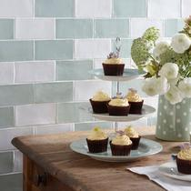 Image for Wall Tile Laura Ashley Artisan White 75mm x 300mm LA51591 22 Tile Per Pack