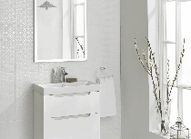 Image for Laura Ashley Bathroom Wall Tile The White Collection Marise 248mm x 498mm 8 Per Pack - LA51911