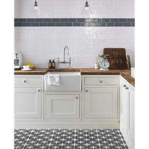 Floor Tile Laura Ashley The Heritage Collection Wicker Charcoal 331mm x 331mm LA51980 9 Tile Per Pack