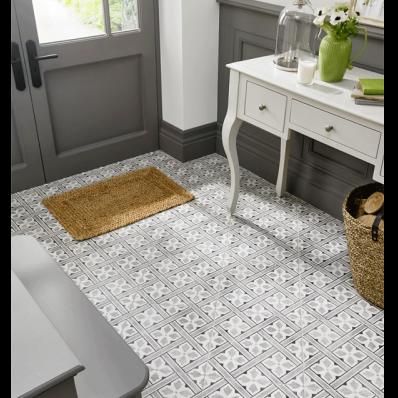 Floor Tile Laura Ashley The Heritage Collection Mr Jones Charcoal 331mm x 331mm LA52000 9 Tile Per Pack