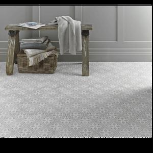 Floor Tile Laura Ashley The Heritage Collection Mr Jones Dove Grey 331mm x 331mm LA52017 9 Tile Per Pack