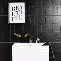 Image for Function and Form Patchwork Black Gloss 248mm x 498mm Wall Tile 8 Per Pack - BCT42006