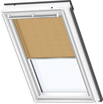 Image for Velux Electric Pleated Blind Shiny Cappuccino - FML 1264