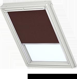 Velux solar roller dark brown rsl 4060 roof windows for Velux solar blind battery