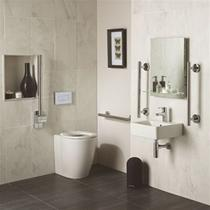Image for Ideal Standard Freedom Doc M Raised Height Back To Wall Pan Pack Including 40cm Cube Basin