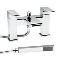 Image for Hudson Reed Strike Bath Shower Mixer Tap Pillar Mounted - Chrome