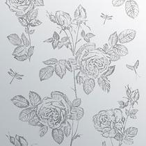 Image for Ted Baker Wall Art Splashback ArTile Vintage Rose 600mm x 750mm BCT46004 1 Tile Per Pack