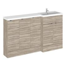 Image for Hudson Reed Right Handed Combination Unit with 300mm Base Unit - 1502mm Wide - Driftwood 1 Tap Hole