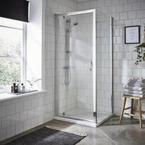 Image for Premier Ella Pivot Shower Door 800mm Wide - 5mm Glass