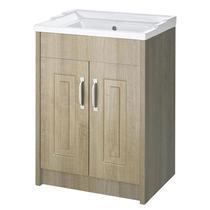 Image for Premier York Floor Standing Vanity Unit with Basin 600mm Wide Gladstone Oak 1 Tap Hole