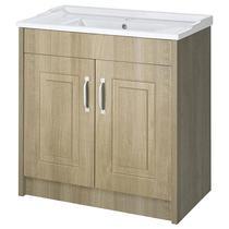 Image for Premier York Floor Standing Vanity Unit with Basin 800mm Wide Gladstone Oak 1 Tap Hole