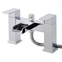 Image for Hudson Reed Waterfall Bath Shower Mixer Tap Pillar Mounted - Chrome