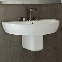 Image Of RAK Harmony Basin & Half Pedestal 650mm Wide 1 Tap Hole
