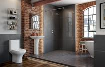 Image for Vicenza Complete Suite (C/C WC, Steel Single End 2TH Bath and 1TH Full Pedestal Basin)