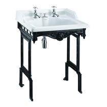 Image for Burlington Basin With Invisible Overflow & Classic Black Aluminum Stand - 650mm