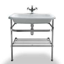 Image for Burlington Large Basin Roll Top  & Stainless Steel Stand - 750mm