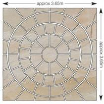 Image for Bradstone Natural Sandstone Fossil Buff 3 Ring Circle