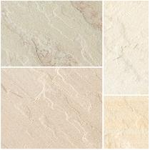 Image for Bradstone Natural Sandstone Fossil Buff Patio Pack Feature Kit - 15.30m2