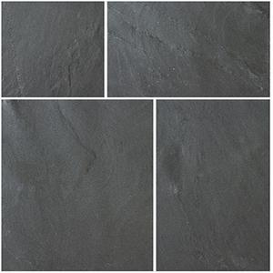Image for Bradstone Natural Slate Blue-Black 600x600 Paving Slabs