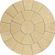 Image for Bradstone Textured Buff 2 Ring Circle Kit