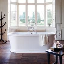 Image for Burlington London Round Soaking Tub Freestanding Bath - 1800 x 850mm
