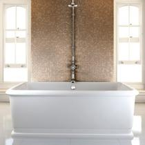 Image for Burlington London Rectangle Soaking Tub Freestanding Bath - 1800 x 850mm